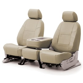 Image of Coverking 3Rd Row Seat Cover Genuine Leather Beige