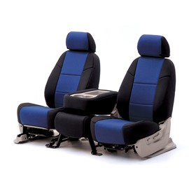 Image of Coverking 3Rd Row Seat Cover Neoprene Blue/black