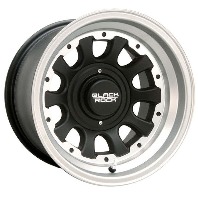 """Image of """"Black Rock Aluminum Wheel, 909 Type-D Black With Tungsten, 15 X 8"""""""" With 5 X 5.5 Bolt Pattern Back Spacing 4"""""""""""""""
