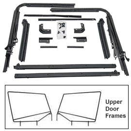 Image of Replacement Soft Top Hardware With Tailgate Bar And Pair Upper Door Frame Kit