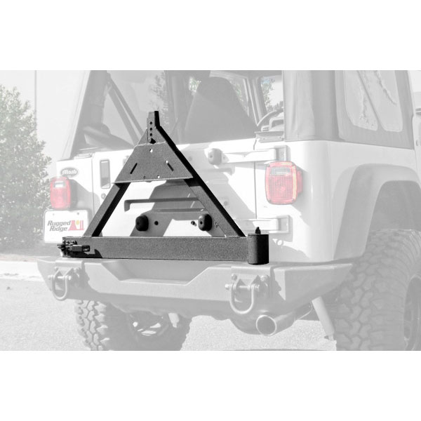 Rugged Ridge Tire Carrier Mount Add-On For Xhd Rear Bumper - Textured Black
