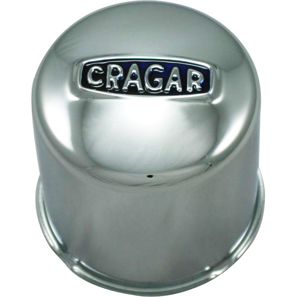 Image of Cragar Closed Center Cap With Logo, Chrome - Sold Individually
