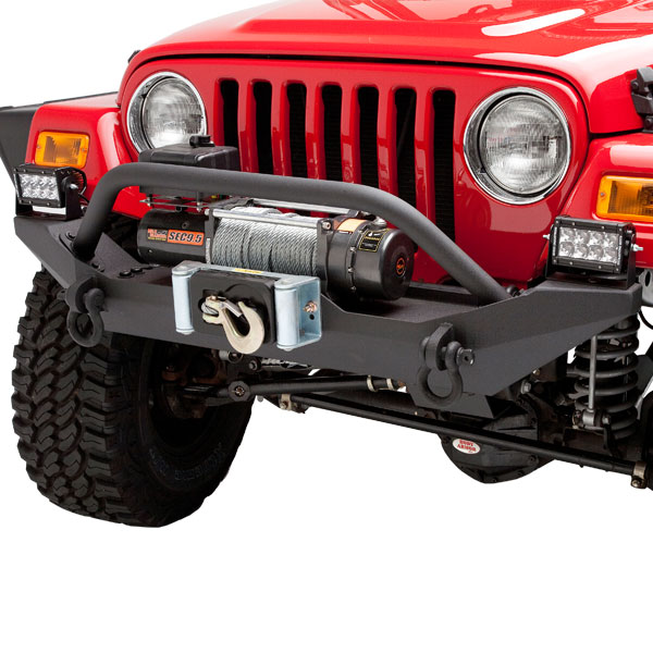 Image of Body Armor 4X4 Front Formed Winch Bumper (With Winch Plate And Grille Guard)