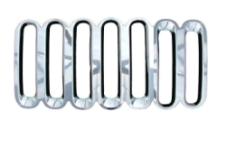 Image of Grille Overlay, 1 Piece, Triple-Chrome Plated Abs