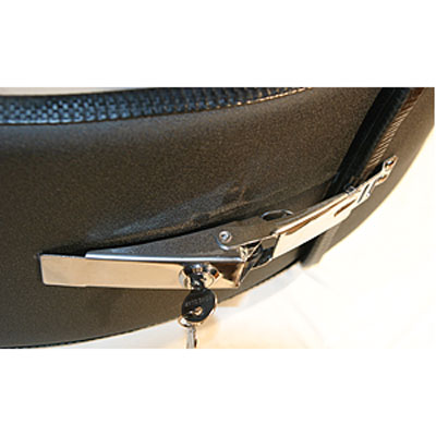"Image of Boomerang Masterseries 29"" Polished Blank Black Faceplate With Stainless Steel Tire Cover Ring"
