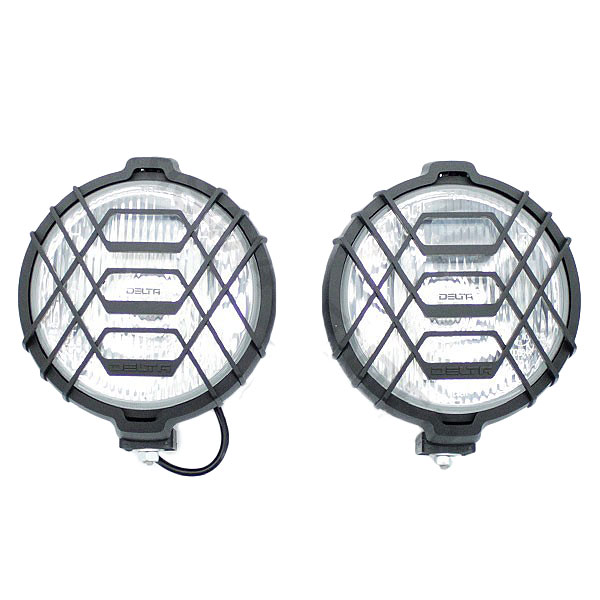 "Image of Delta 150 Series 6"" Halogen Driving Light Kit 55W With Stone Guards (Pair)"