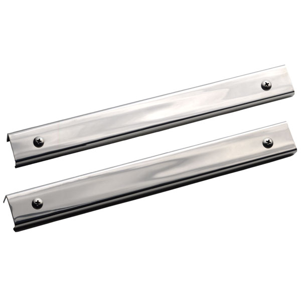 """Image of Kentrol 11"""" Long Entry Guards, Stainless Steel (Pair)"""
