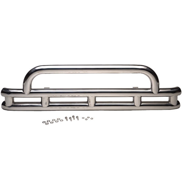 """Image of Kentrol 3"""" Front Double Tube Bumper, Stainless Steel"""