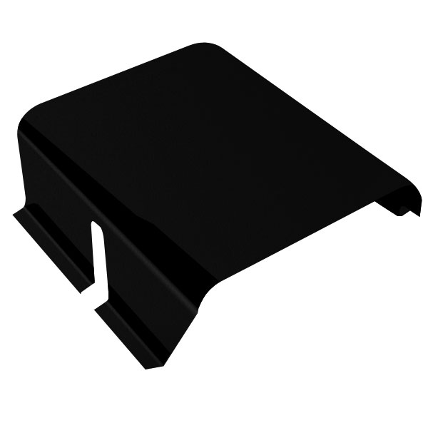 Jeep Warrior 15 Gallon Gas Tank Cover, 12 Gauge Smooth Black Steel, Exterior Car Parts , 1987-1995