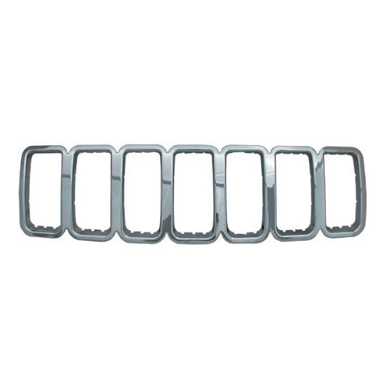 Image of Grille Overlay 1 Piece, Chrome Abs