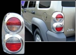 Image of Tail Bezel Guards, Chrome (Tail Light Not Included)