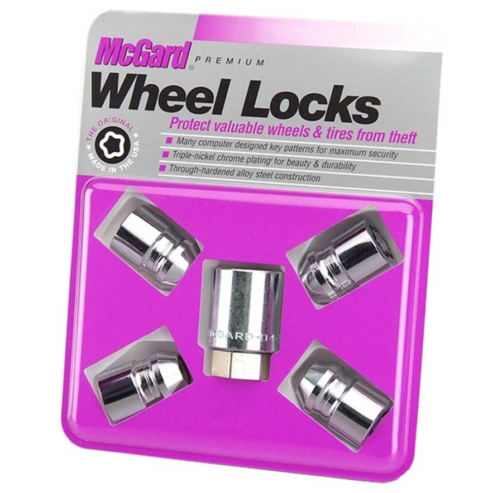 "Image of Mcgard 4 Wheel Lock Set, M12X1.5 Thread, 3/4"" Hex, 1.28"" Lenght - Chrome"