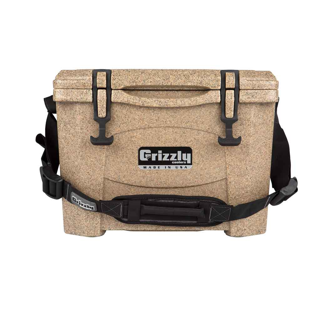 Image of Grizzly 15 Quart Rotomolded Cooler-Sandstone/tan