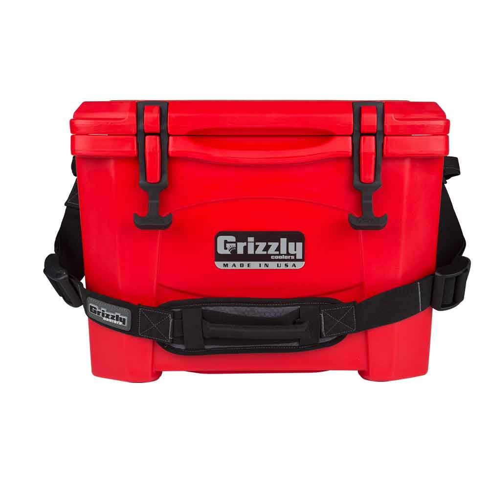 Image of Grizzly 15 Quart Rotomolded Cooler-Red