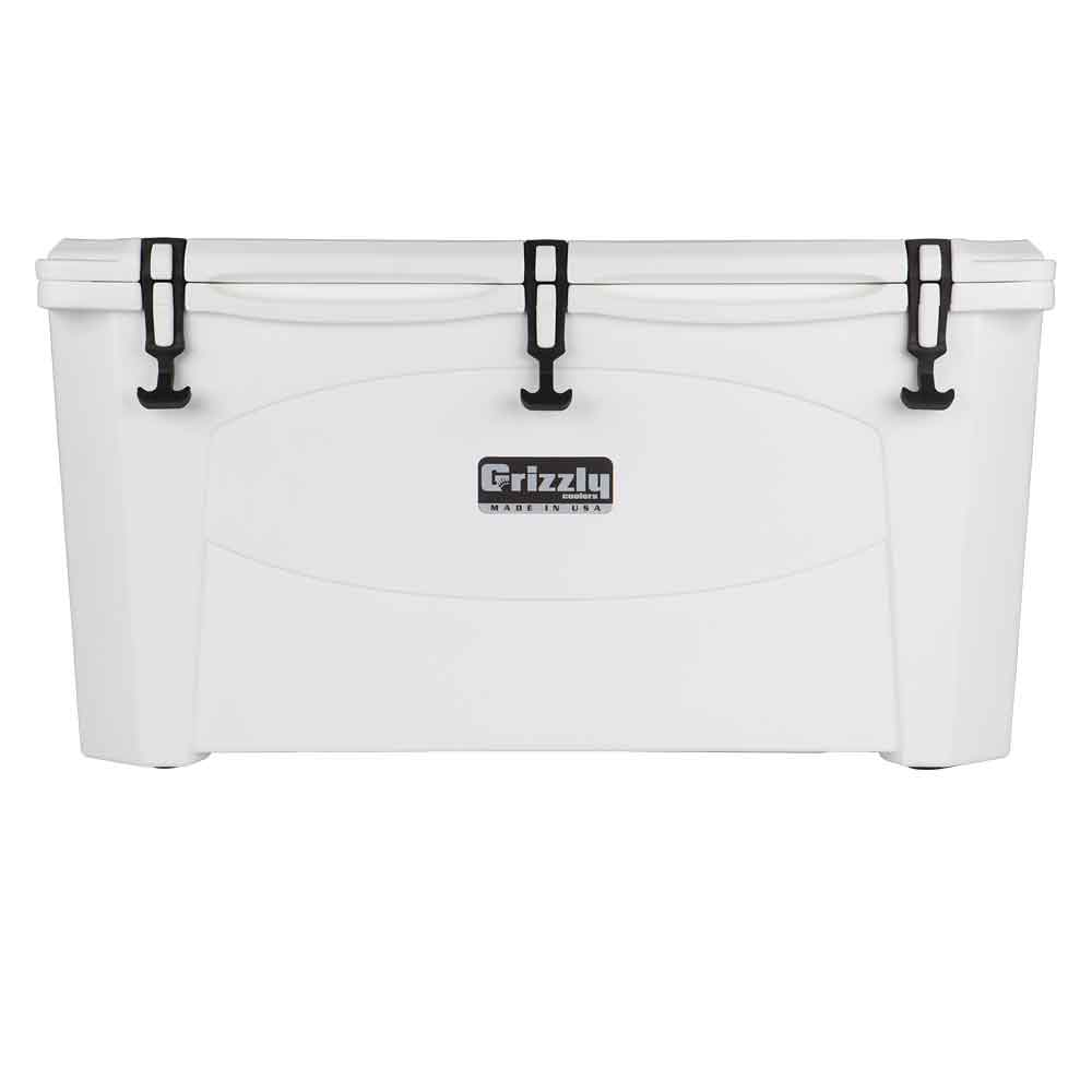 Image of Grizzly 100 Quart Rotomolded Cooler-White