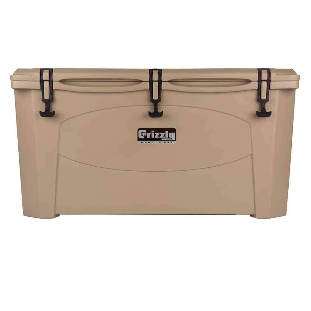 Image of Grizzly 100 Quart Rotomolded Cooler-Tan