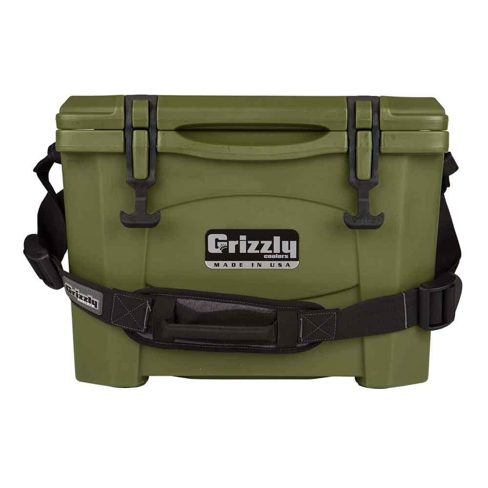 Image of Grizzly 15 Quart Rotomolded Cooler-Od Green