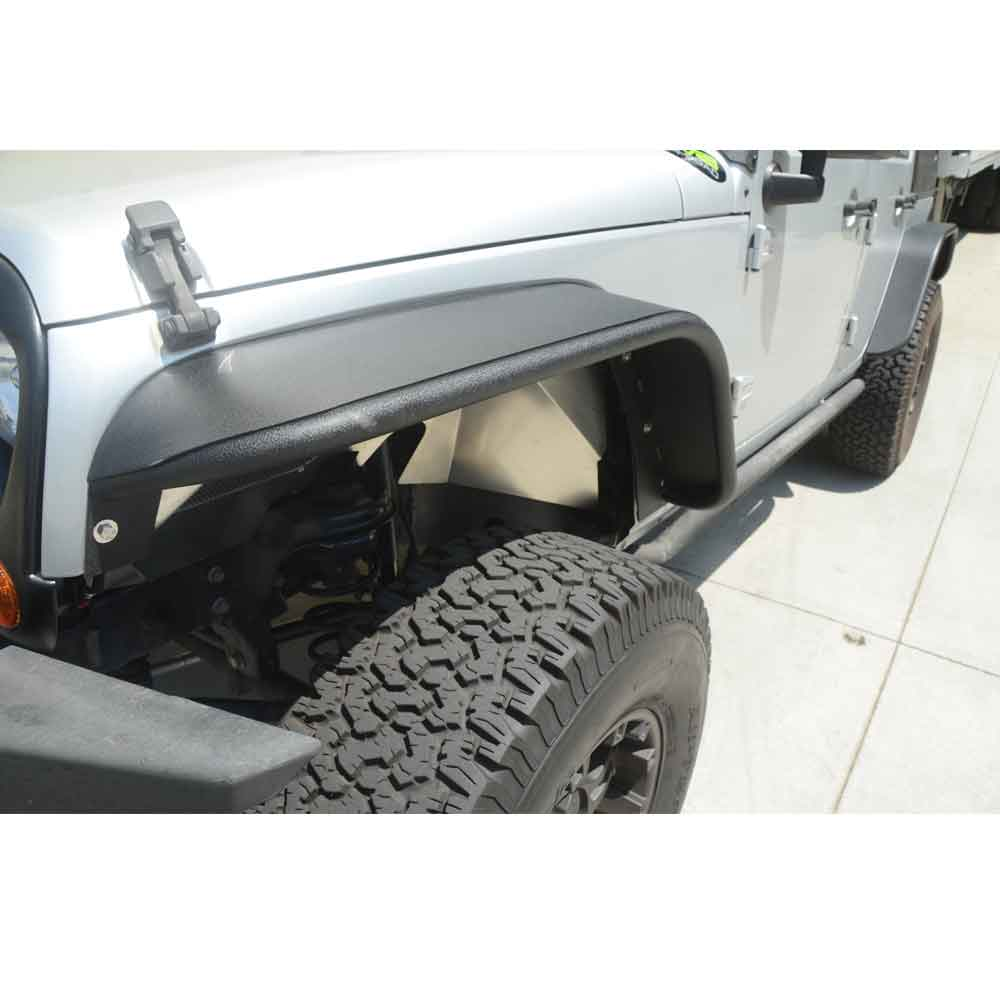 Image of Dv8 Off-Road Aluminum Fender Liners, Front, Unpainted