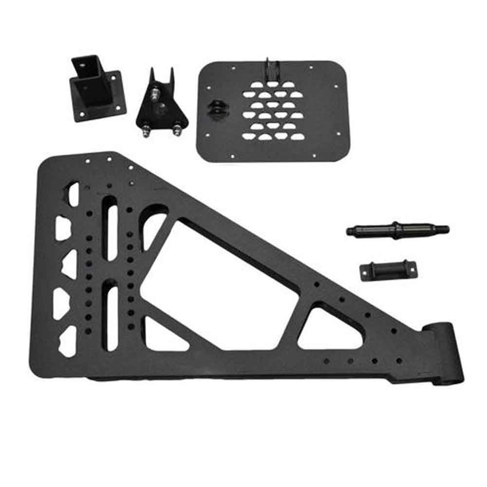 Image of Dv8 Off-Road Add-On Tire Carrier Kit For Rbsttb-10 & Rbsttb-11, Steel - Textured Black