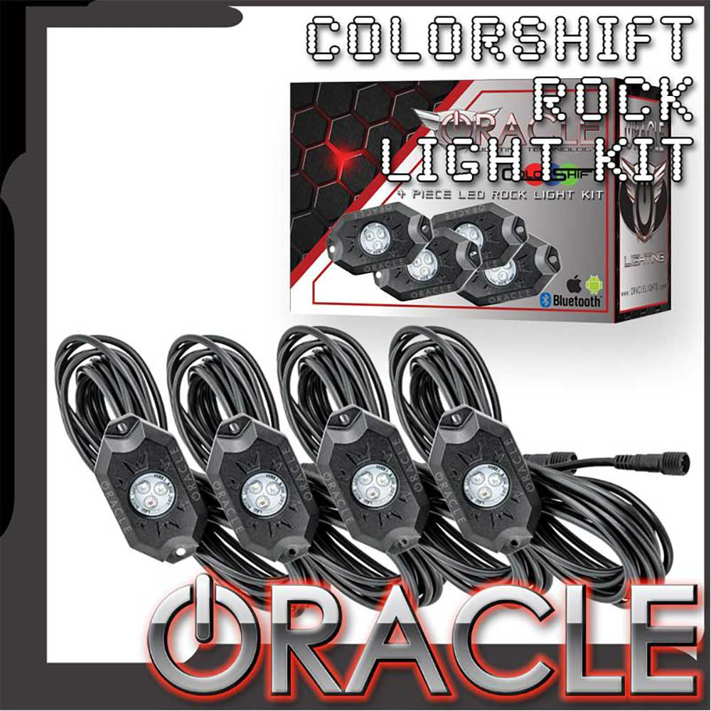 Image of Oracle Bluetooth + Rf Colorshift Underbody Rock Light Kit - Set Of 4