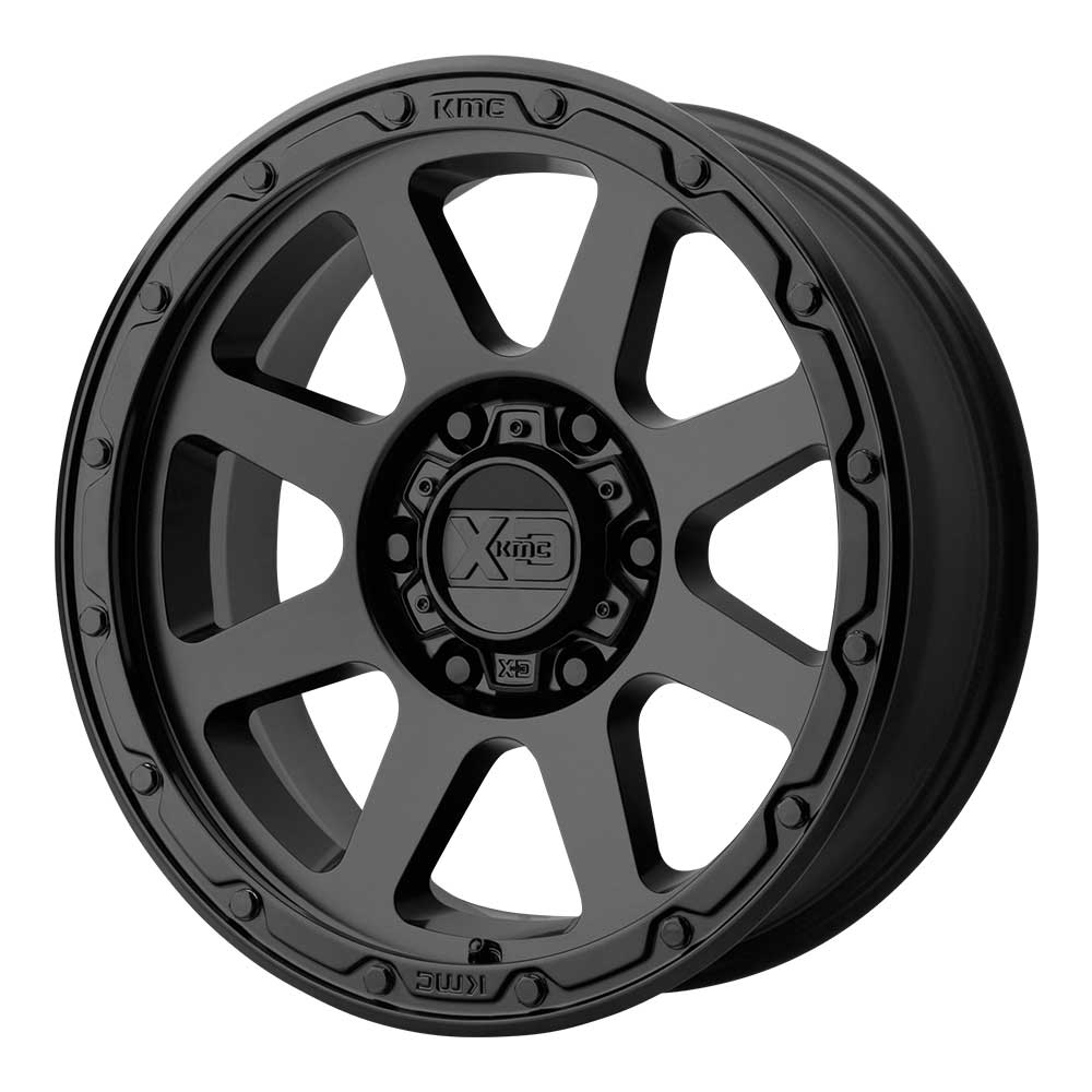 "Image of Kmc Xd134 Addict 2 Series Wheel 18X8.5"" - 5X5"" Bolt Pattern, 4.75 Backspacing - Matte Black"