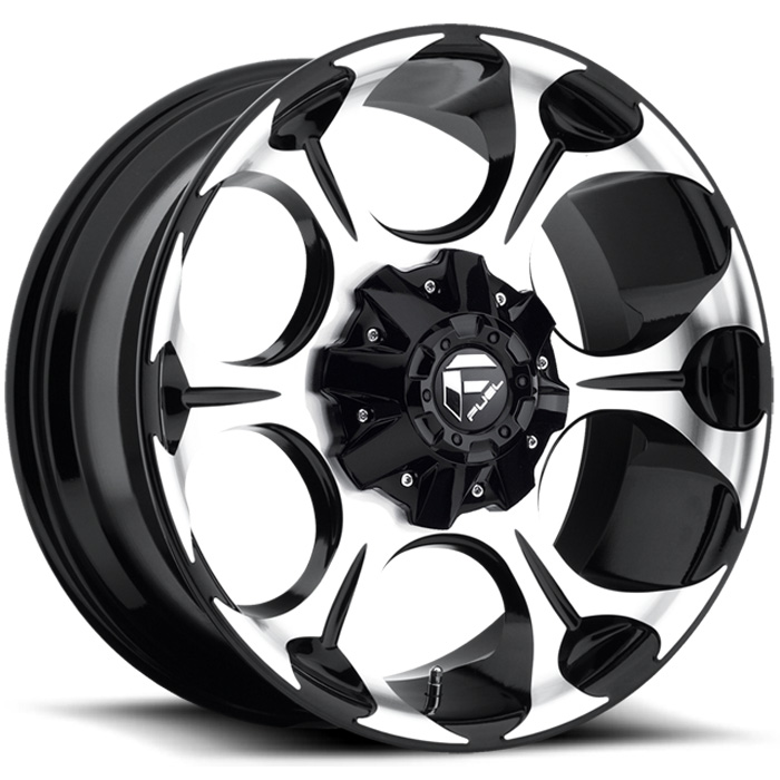"""Image of Fuel Dune Series Wheel - 17""""x9"""" - Bolt Pattern 5X4.5"""" And 5X5"""" - Backspacing 4.5"""" - Offset -12 - Machined Black"""