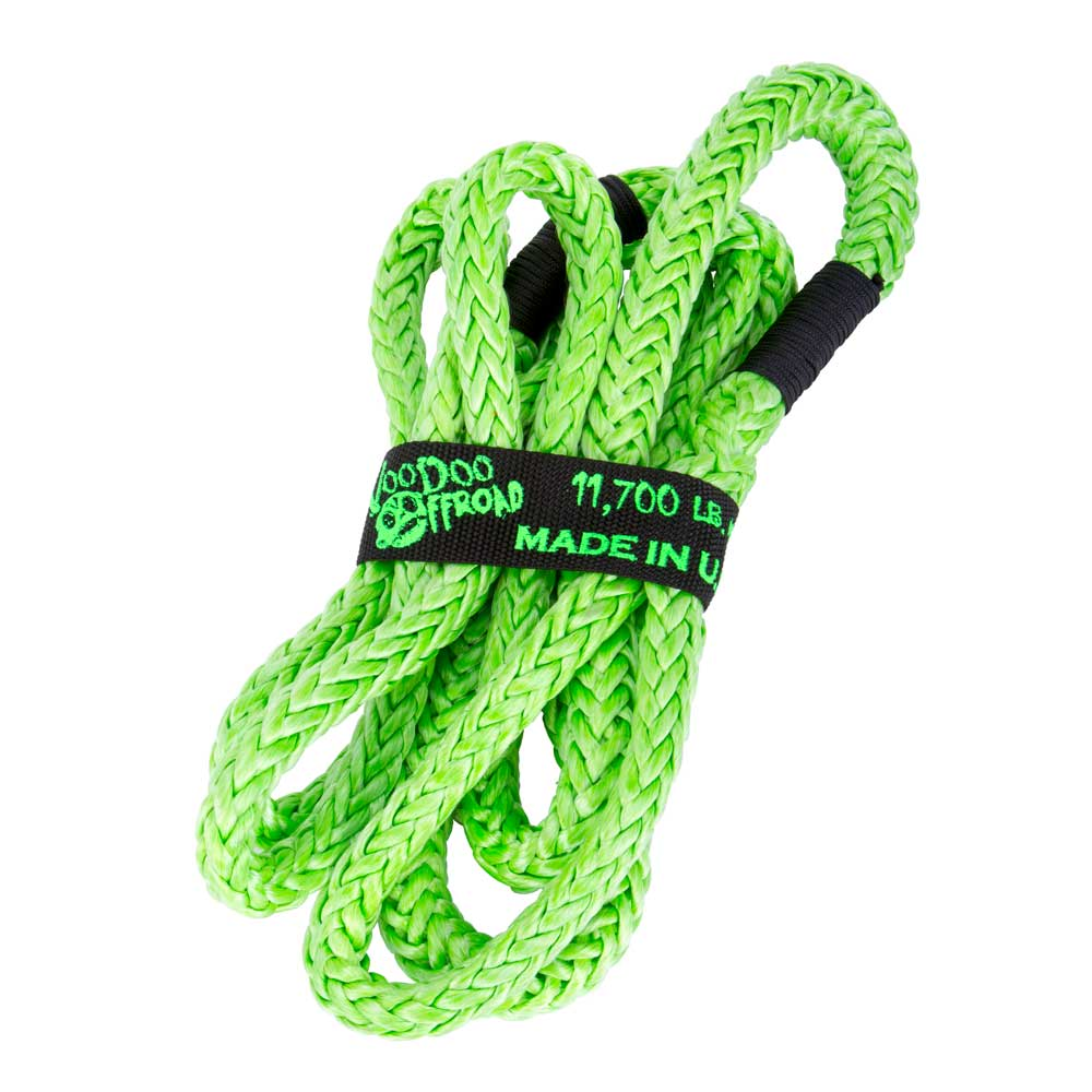 "Image of ""Voodoo Off-Road 1/2"""" X 10' Utv Kinetic Recovery Rope 11,700Lbs - Green"""