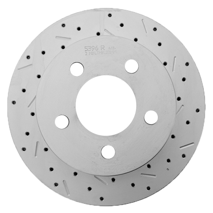 Image of Xtremestop High Performance Cross Drilled And Slotted Front Right Brake Rotor