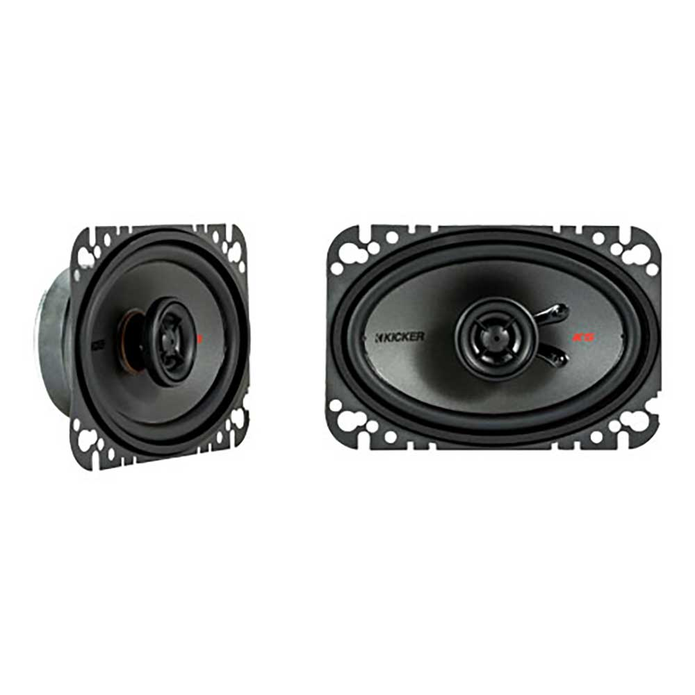 "Image of ""Kicker 4X6"""" Ksc460 Coax Speakers With .5"""" Tweeters, 4 Ohm"""