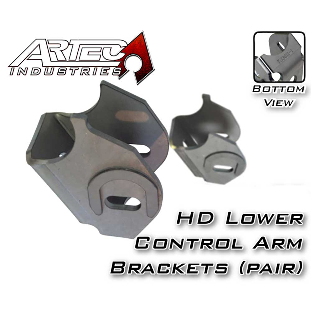 Image of Artec Industries Dana 30/44 Heavy Duty Lower Control Arm Brackets, Cam Slot With Horseshoe - Pair