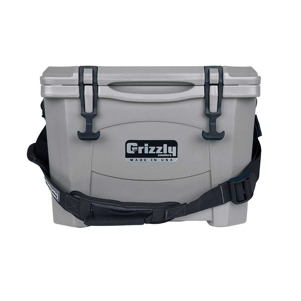 Image of Grizzly 15 Quart Rotomolded Cooler - Gray
