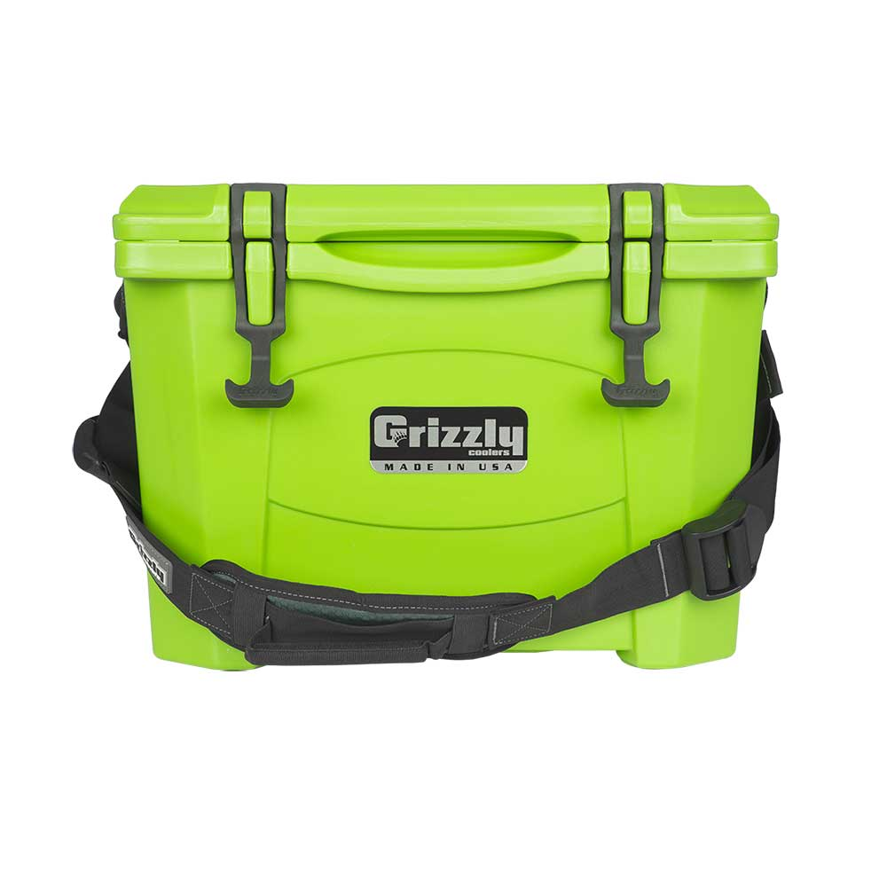 Image of Grizzly 15 Quart Rotomolded Cooler - Lime Green