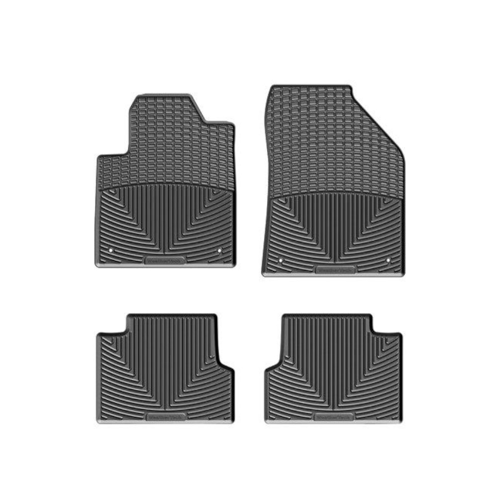 Image of Weathertech All-Weather Floor Mat Kit, Front & Rear - Black