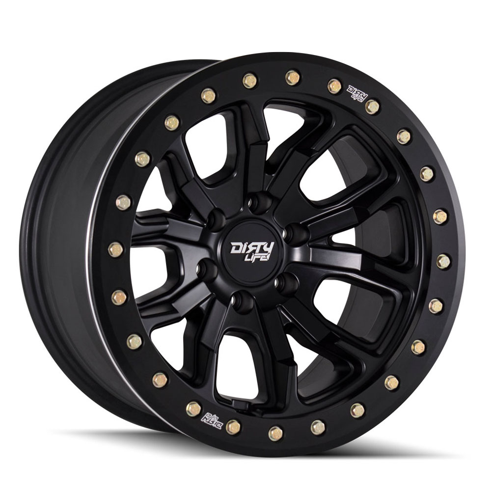 "Image of Dirty Life Dt-1 9303 Series Wheel, 17""x9"", 5X5 Bolt Pattern, 4.53"" Back Spacing - Matte Black"