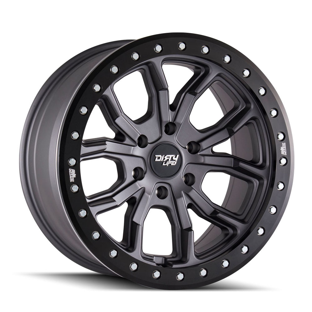 "Image of Dirty Life Dt-1 9303 Series Wheel, 17""x9"", 5X5 Bolt Pattern, 4.53"" Back Spacing - Matte Gunmetal"