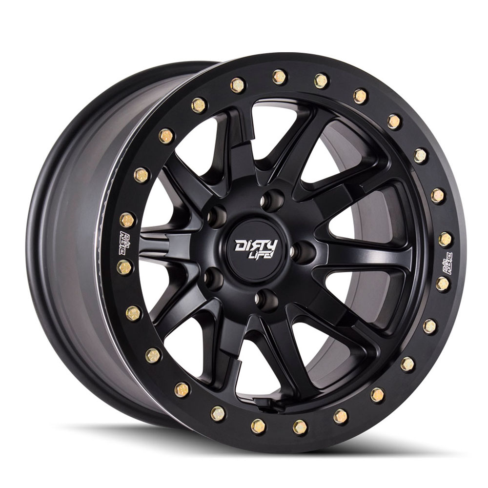 "Image of Dirty Life Dt-2 9304 Series Wheel, 17""x9"", 5X5 Bolt Pattern, 4.53"" Back Spacing - Matte Black"
