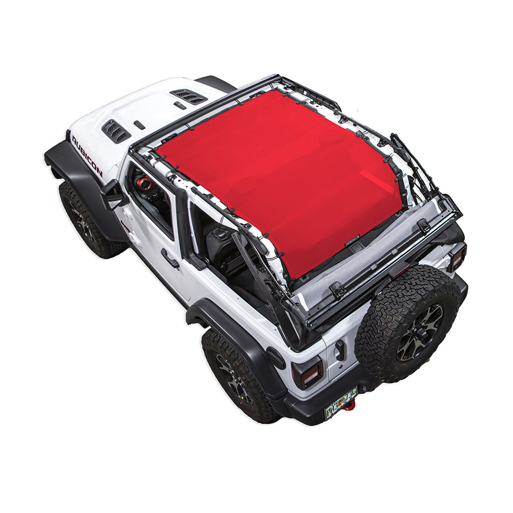 Jeep Spiderwebshade Shadetop Jl2D, Long, Red, Exterior Car Parts | 2018 Wrangler JL,