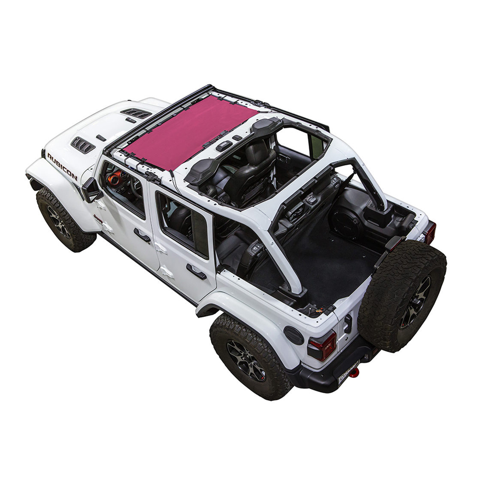 Jeep Spiderwebshade Shadekini Jl, Pink, Exterior Car Parts | 2018 Wrangler JL & Wrangler JL