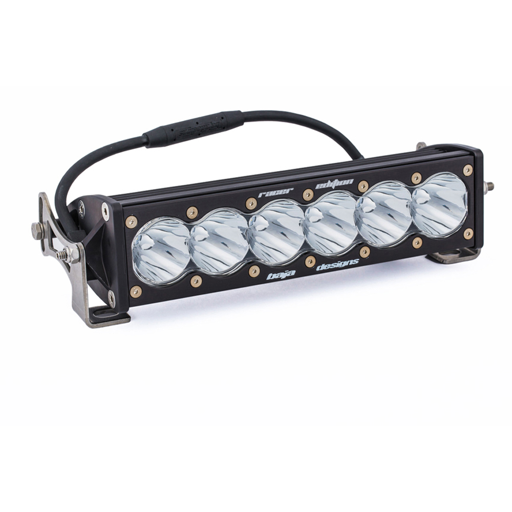 "Image of Baja Designs 10"" Onx6 Racer Edition Led Light Bar, Clear Lens - High Speed Spot Light Pattern"
