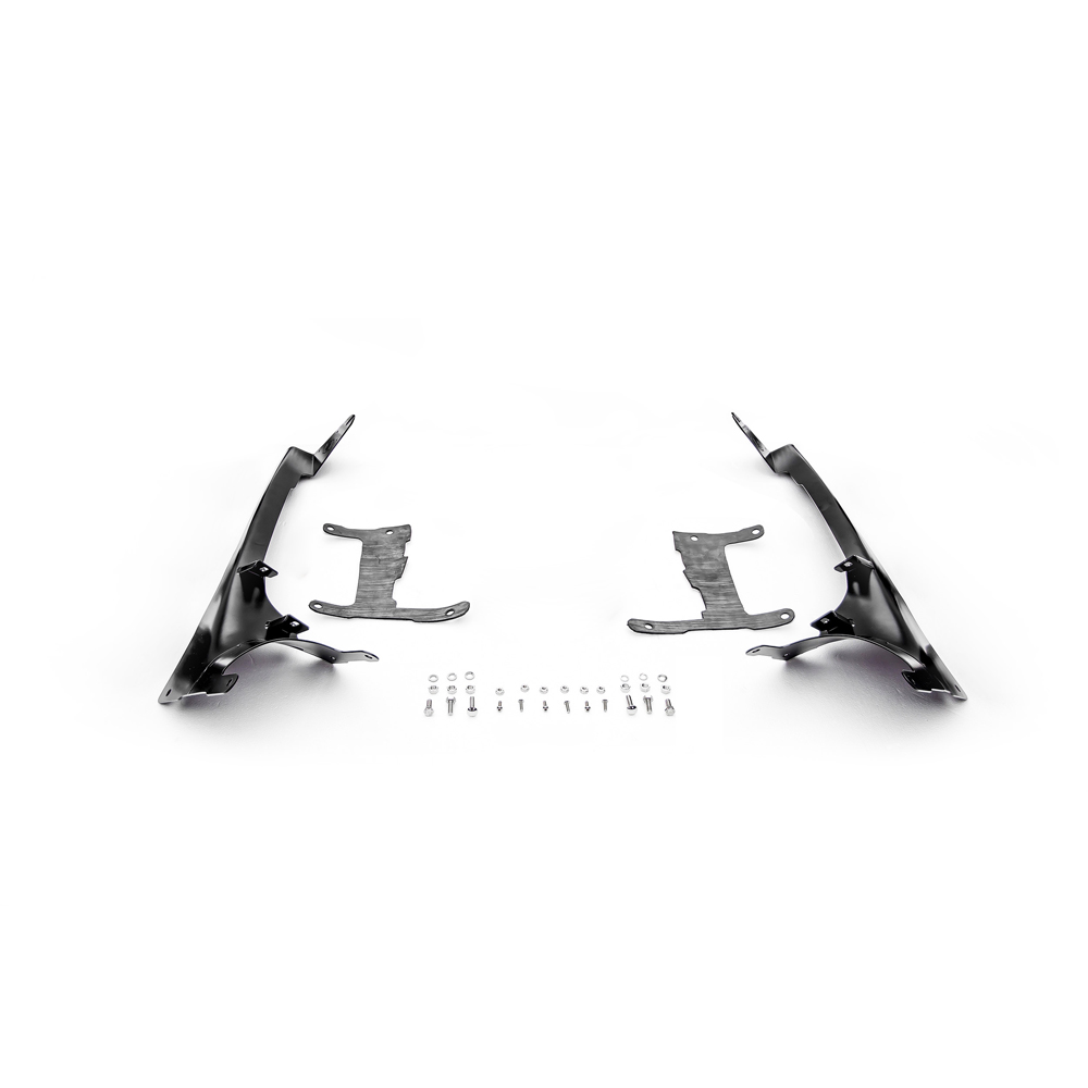 Zroadz Front Roof Level And Lower A-Pillar Light Mounting Brackets - Pair