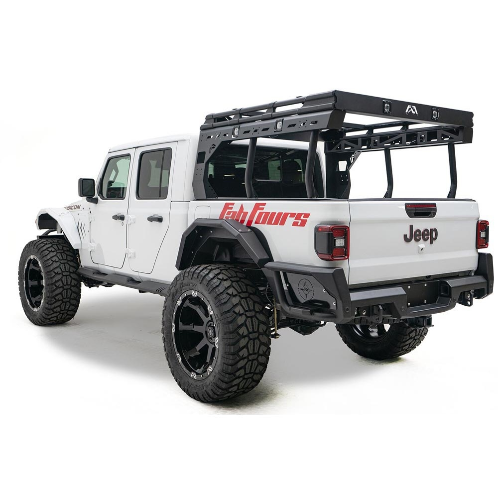 Jeep Fab Fours Jt Overland Rack, Black Powder Coat, Exterior Car Parts | 2020 Gladiator JT,