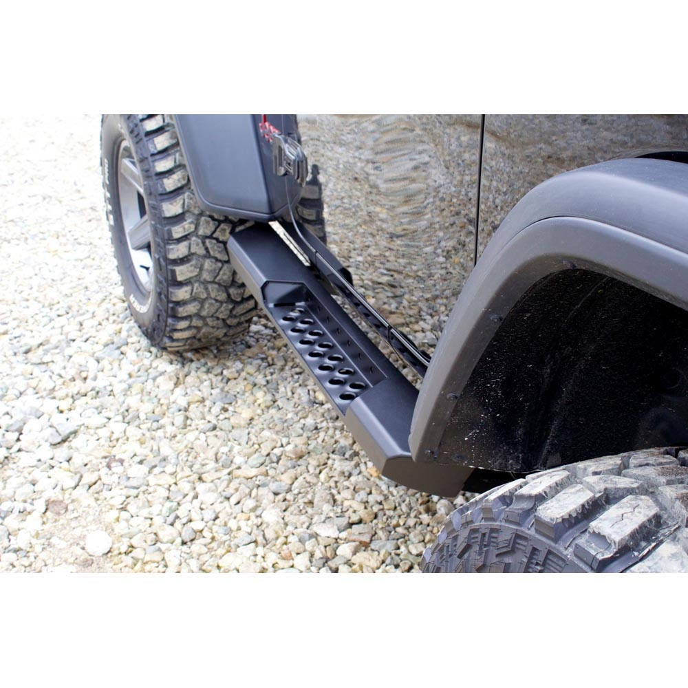 Lod Destroyer Rocksliders, Jl2D, Bare Steel, Pair, Exterior Car Parts | 2018-2019 Wrangler JL,