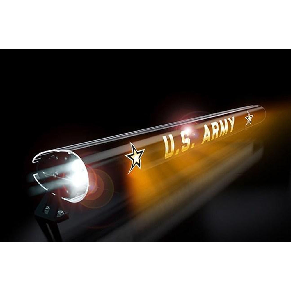 Aerolidz 52 Us Army Insert For Dual Row Light Bar Silencer, Exterior Car Parts, AXI-AMY52