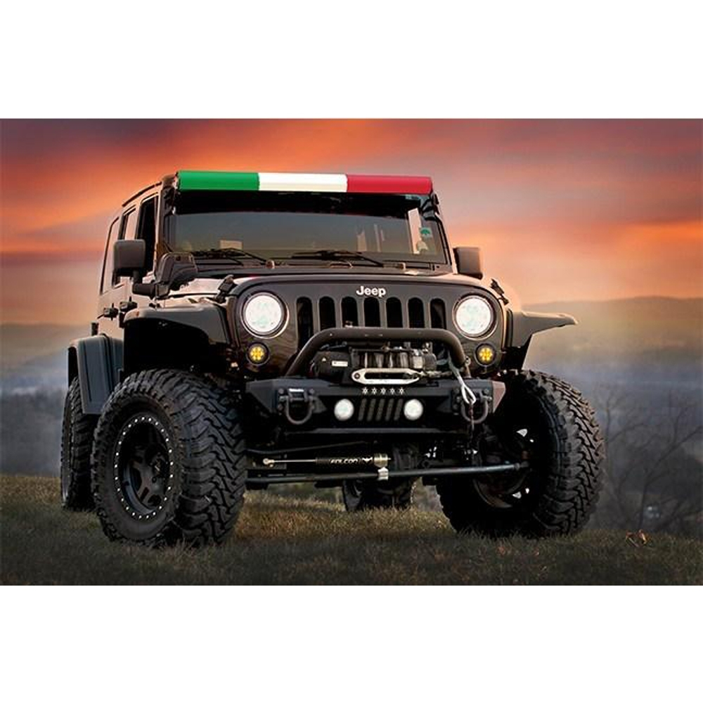 Aerolidz 52 Italian Flag Insert For Dual Row Light Bar Silencer, Exterior Car Parts, AXI-ITALFLG52