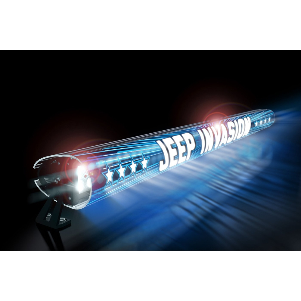 Jeep Aerolidz 52 Invasion Insert For Dual Row Light Bar Silencer, Blue, Exterior Car Parts,