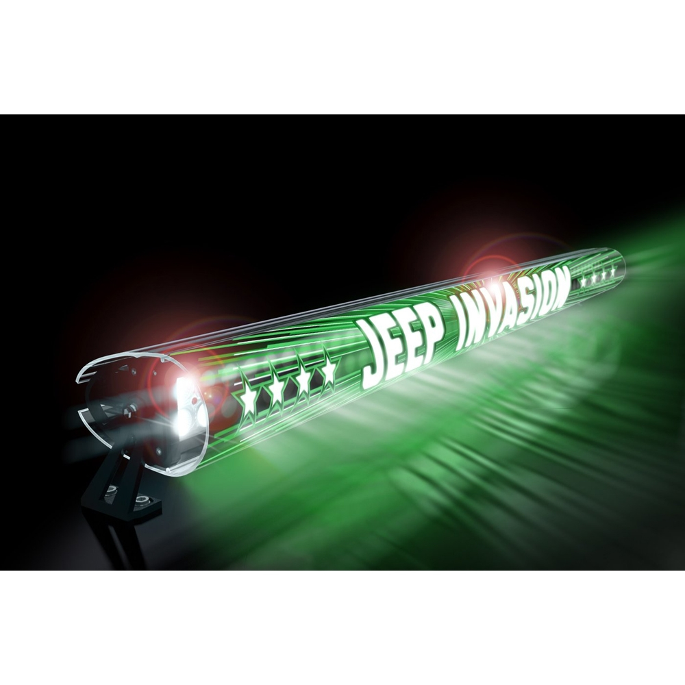 Jeep Aerolidz 52 Invasion Insert For Dual Row Light Bar Silencer, Green, Exterior Car Parts,