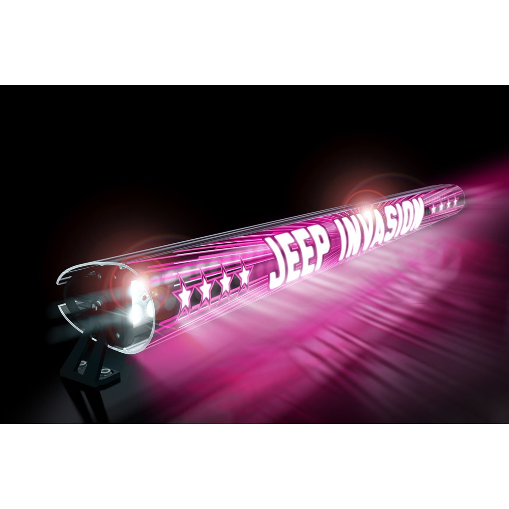 Jeep Aerolidz 52 Invasion Insert For Dual Row Light Bar Silencer, Pink, Exterior Car Parts,