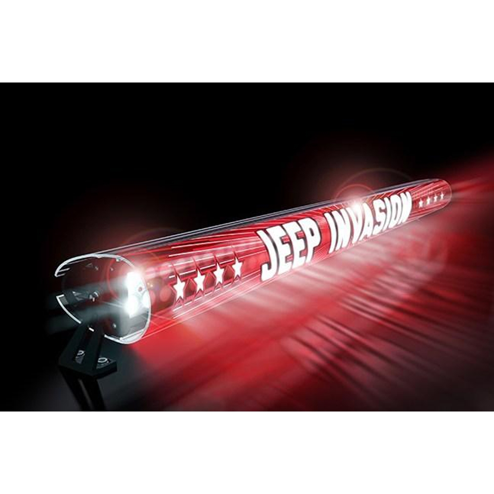 Jeep Aerolidz 52 Invasion Insert For Dual Row Light Bar Silencer, Red, Exterior Car Parts,