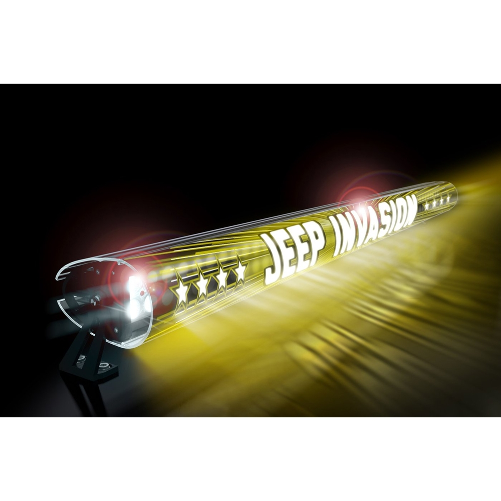 Jeep Aerolidz 52 Invasion Insert For Dual Row Light Bar Silencer, Yellow, Exterior Car Parts,