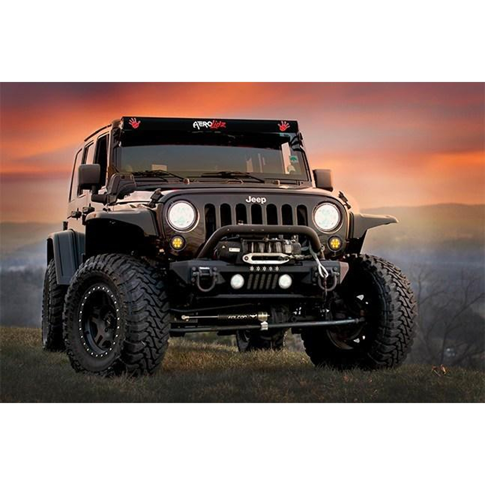 Jeep Aerolidz 52 Wave Insert For Dual Row Light Bar Silencer, Red, Exterior Car Parts, AXI-JPWVR52